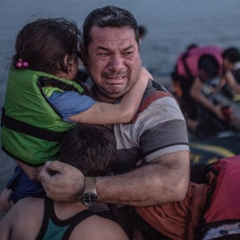 Oğuzhan Ali Follow #Syrian #refugee breaks out in tears of joy, arriving on the island of #Kos in #Greece on 15 August by #DanielEtter