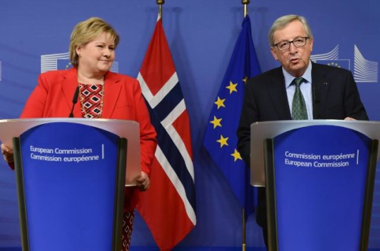 Erna Solberg besøker Europakommisjonen i Brussel januar 2015