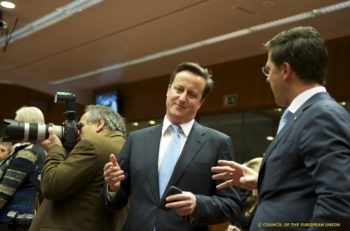 British Prime Minister, David Cameron, and Dutch Prime Minister, Mark Rutte